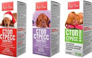 Стоп стресс капли для собак инструкция